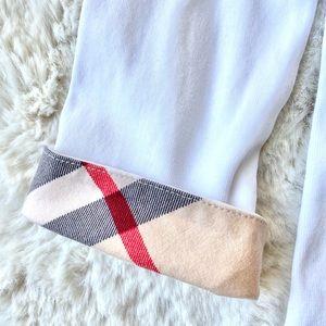Burberry Brit Scoop Neck Cuff Long Sleeve Shirt
